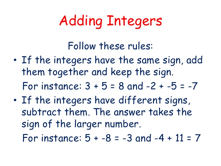 math worksheet : rules for adding and subtracting integers worksheets  worksheet  : Subtracting And Adding Integers Worksheet